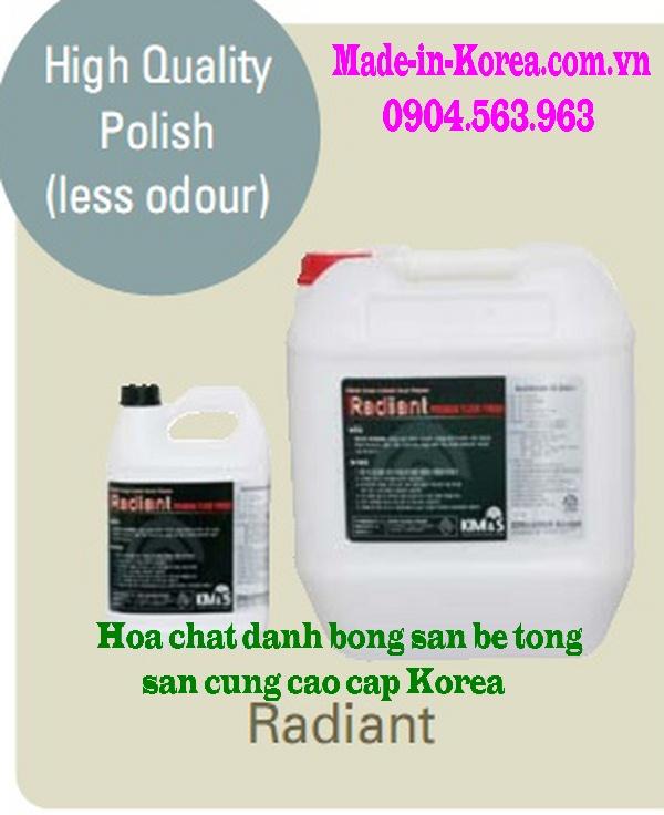 Hóa chất đánh bóng sàn bê tông sàn cứng cao cấp Korea Radiant