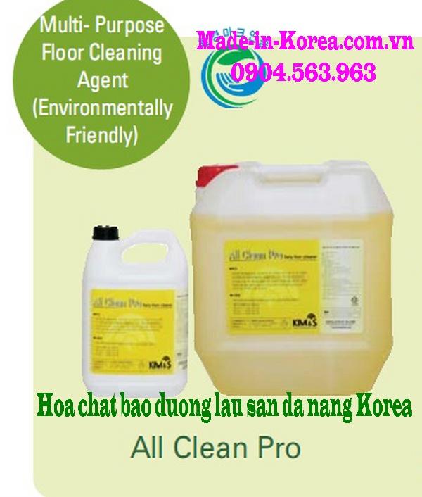 Hóa chất bảo dưỡng lau sàn đa năng Korea All Clean Pro