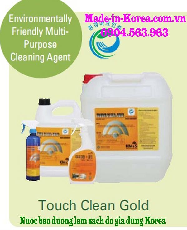 Hóa chất bảo dưỡng làm sạch đồ gia dụng Korea Touch Clean Gold