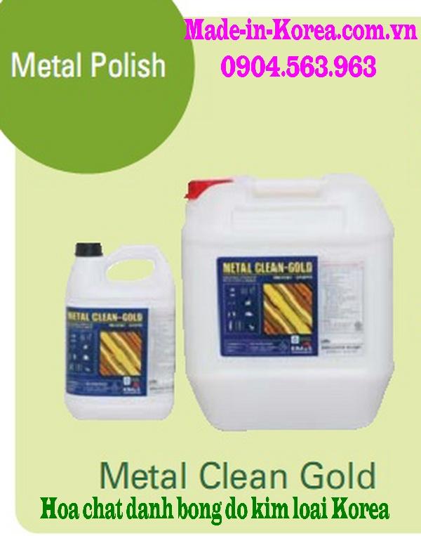 Hóa chất làm sạch đánh bóng đồ kim loại Korea Metal Clean Gold