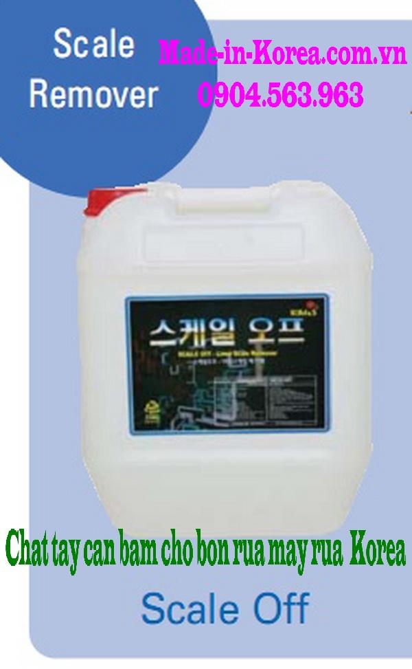Chất tẩy cặn bám cho bồn rửa máy rửa Korea Scale Off