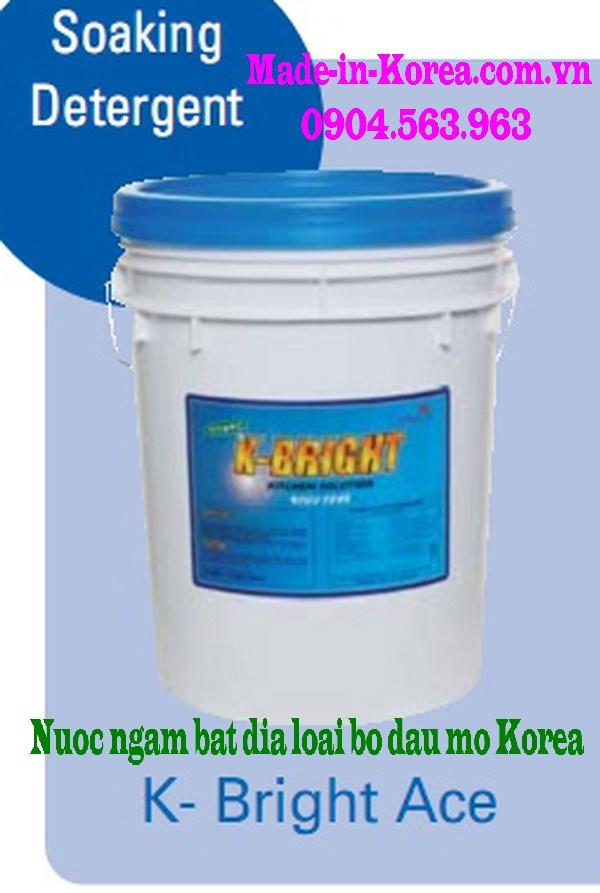 Nước ngâm bát đĩa loại bỏ dầu mỡ Korea K-Bright ACE