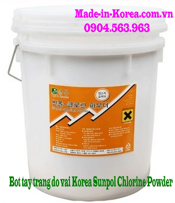 Bột tẩy trắng đồ vải Korea Sunpol Chlorine Powder