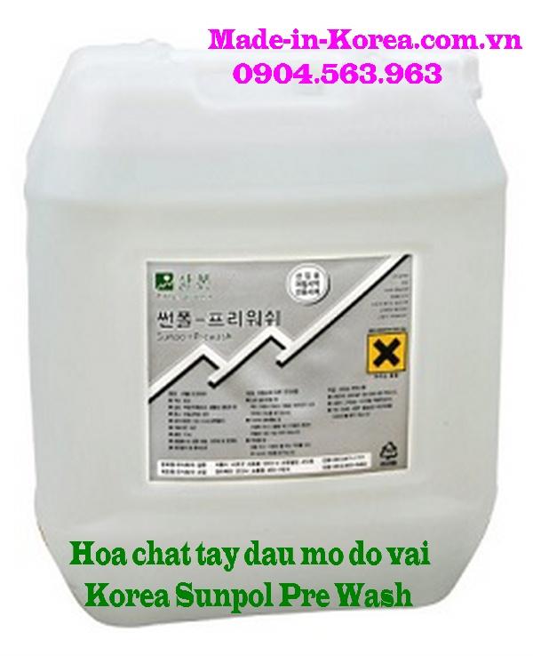 Hóa chất tẩy dầu mỡ đồ vải Korea Sunpol Pre Wash