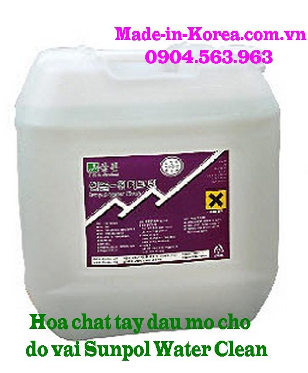 Hóa chất tẩy dầu mỡ đồ vải Sunpol Water Clean