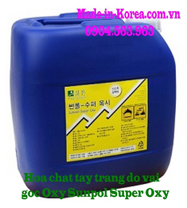 Hóa chất tẩy trắng đồ vải gốc Oxy Sunpol Super Oxy