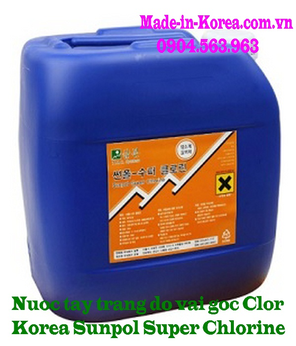 Nước tẩy trắng đồ vải gốc Clor Korea Sunpol Super Chlorine