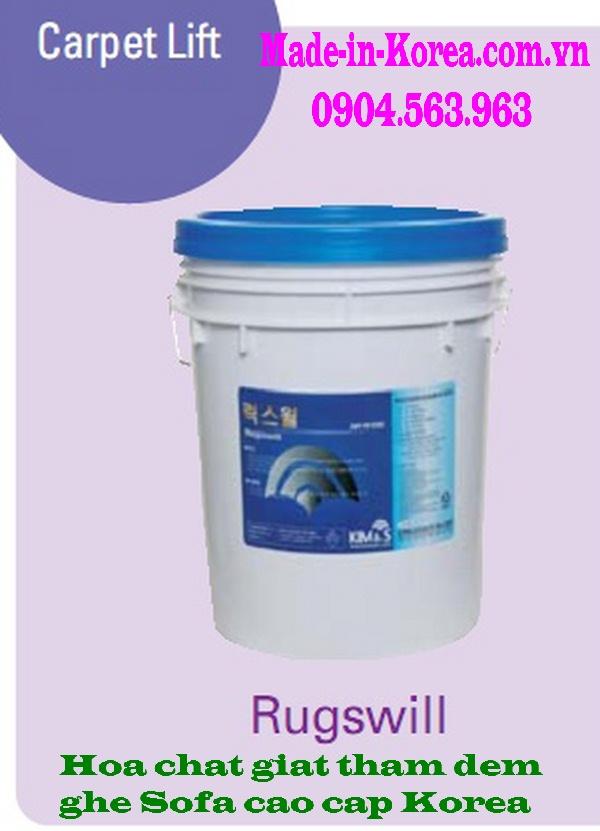 Hóa chất giặt thảm đệm ghế cao cấp Korea Rugswill