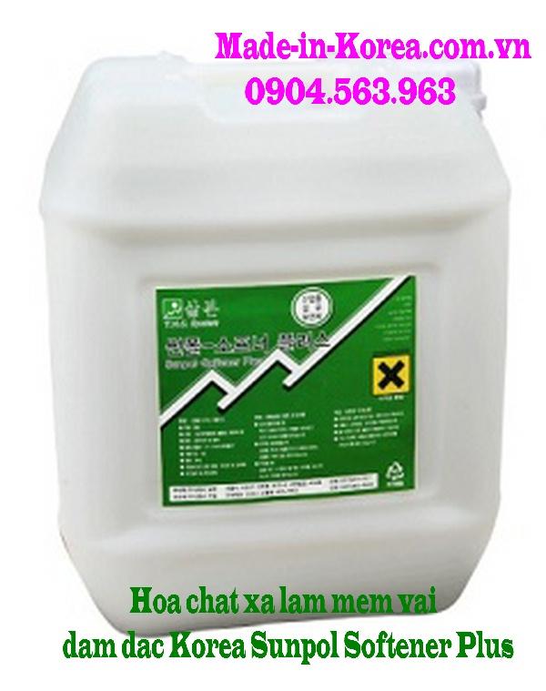 Hóa chất xả làm mềm vải đậm đặc Korea Sunpol Softener Plus
