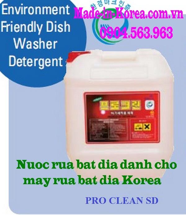 Hóa chất rửa bát đĩa Korea Pro Clean SD