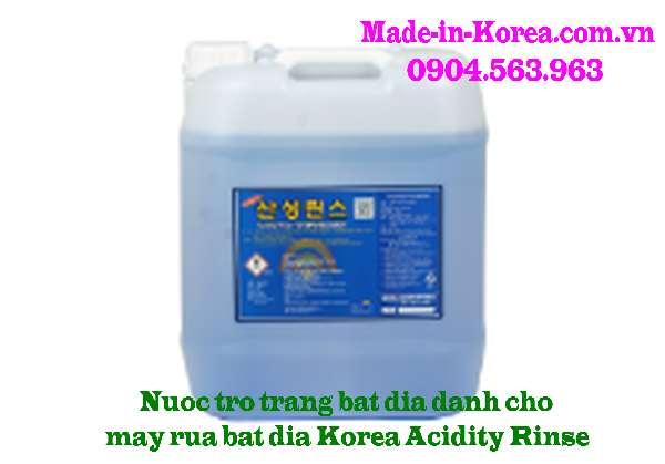 Nước trợ tráng bát đĩa dành cho máy rửa bát đĩa Korea Acidity Rinse